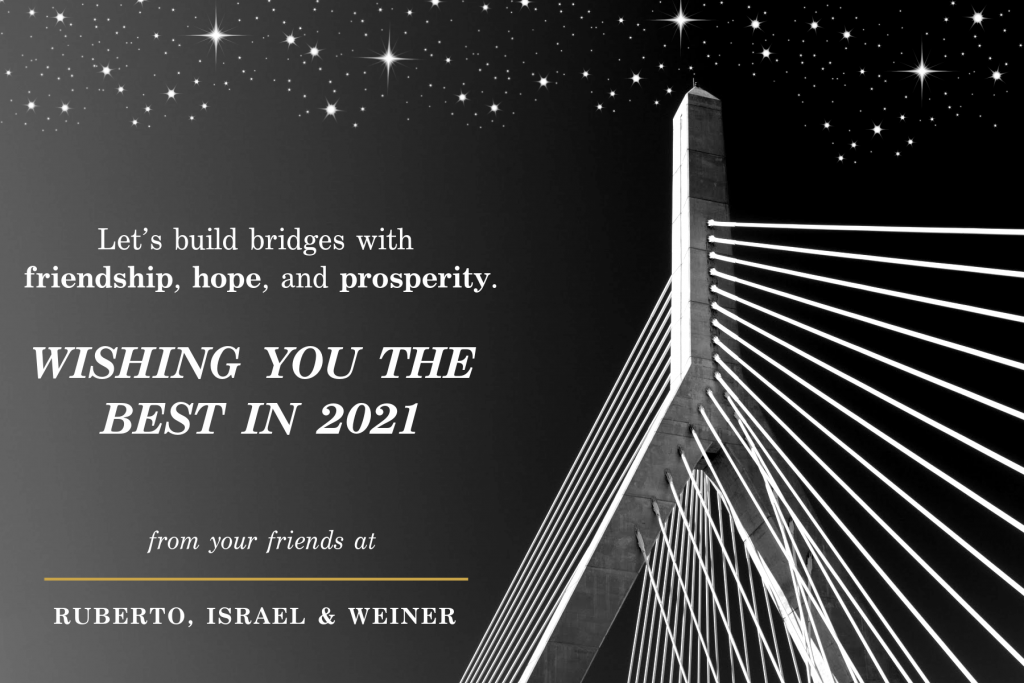 Let's build bridges with friendship, hope, and prosperity. Wishing you the best in 2021.